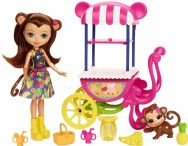 Enchantimals Fruit Cart Vehicle Playset with Merit Monkey Doll
